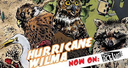 Hurricane Wilma online comic now on activate!